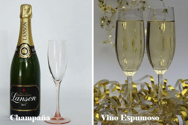 Champagne e Vinho espumoso
