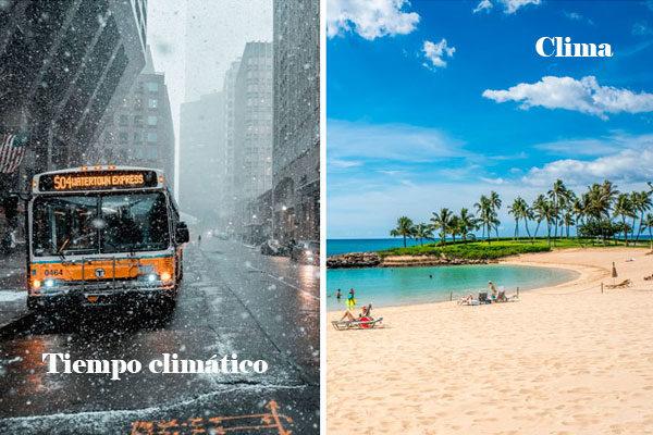 Tempo climático e clima