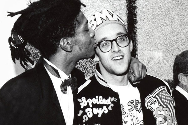 Os artistas de ruas Jean-Michel Basquiat e Keith Haring