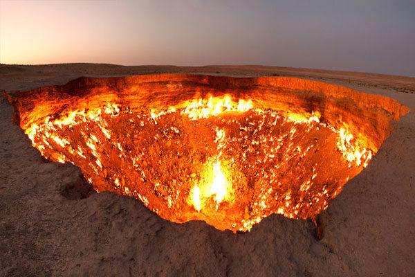 Poço de Darvaza, Turcomenistão
