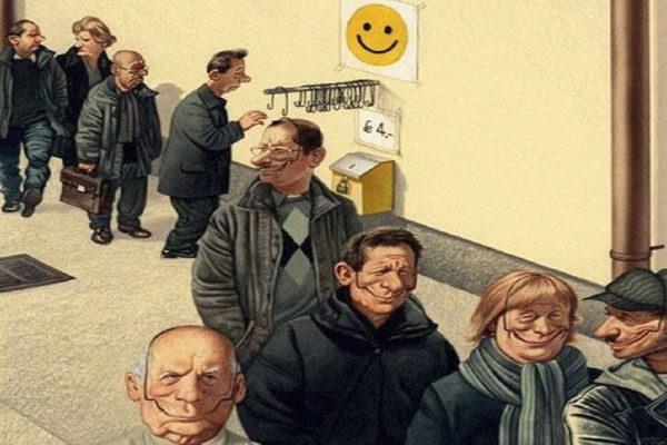 Fingindo felicidade