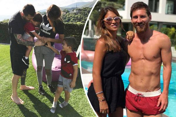 Lionel Messi e Antonella