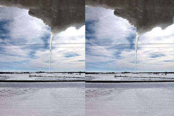 Um tornado de gelo