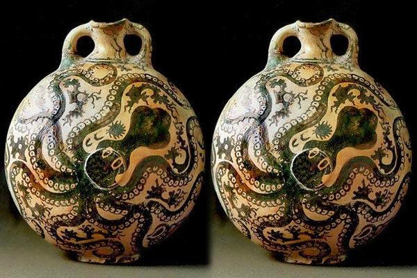 Pote de polvo Minoan