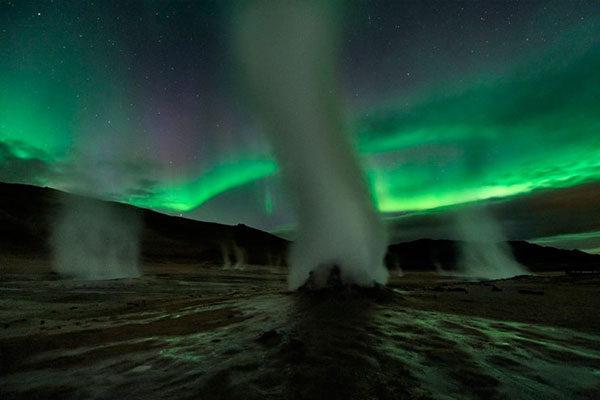 Torres de vapor na Islândia