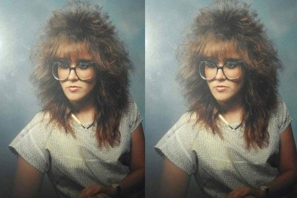 Os cabelos nos anos 80.