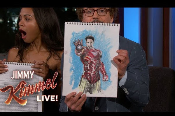 Os Avengers em Jimmy Kimmel ao vivo!