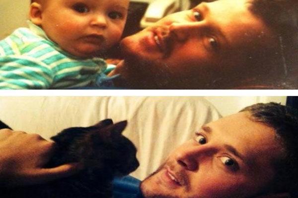 Pai e filho / Filho e gato