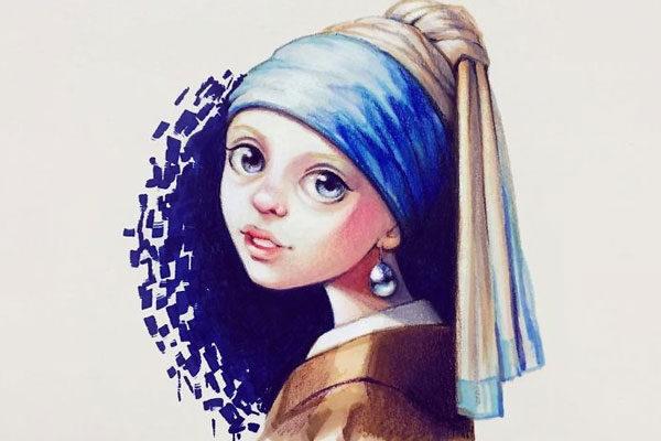 Garota com um brinco de pérola