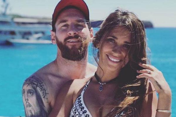 Antonella Roccuzzo esposa de Lionel Messi