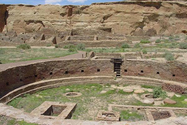 Grande, Kiva, monumento nacional Asteca, Novo México, Estados Unidos