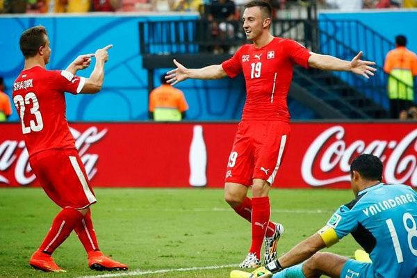 A seleção da Suíça