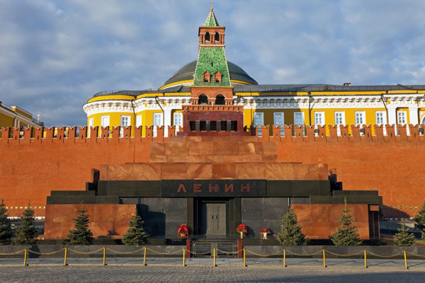 O túmulo de Lenin, Moscou, Rússia