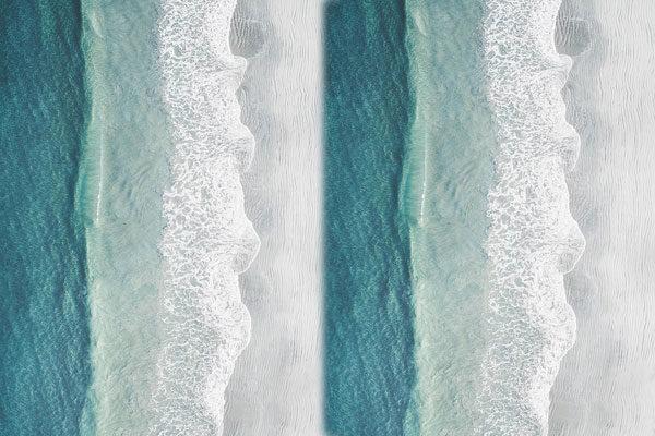 As ondas e a areia