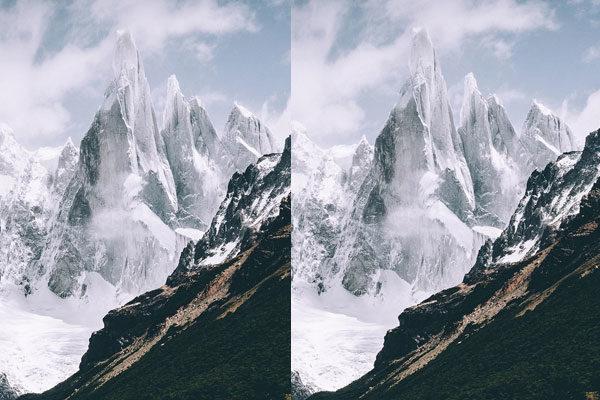 Capas de neve