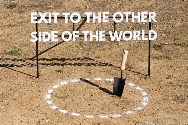 Saia no outro lado do mundo